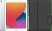 Apple iPad (2020) 10.2 inch 32 GB Wifi Zilver + Targus VersaVu Book Case Zwart