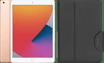 Apple iPad (2020) 10.2 inch 32 GB Wifi Goud + Targus VersaVu Book Case Zwart