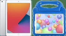 Apple iPad (2020) 10.2 inch 32 GB Zilver + Kinderhoes Blauw