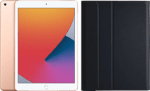 Apple iPad (2020) 10.2 inch 32 GB Wifi Goud + Just in Case Bluetooth Keyboard Cover QWERTY