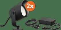 Philips Hue Lily XL Tuinspot - wit en gekleurd licht DuoPack
