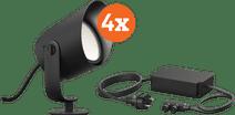 Philips Hue Lily XL Tuinspot - wit en gekleurd licht 4-Pack