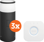 Philips Hue Calla Pedestal Lamp Outdoor Starter 3-pack