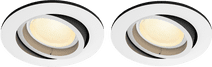 Philips Hue Centura inbouwspot Colour rond wit Duo-Pack