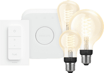 PhilipsHue Globe Warmwit Licht E27 Bluetooth+Philips Hue  Licht E27 Bluetooth Startpakket