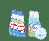 Robijn Klein & Krachtig Color Morgenfris Pack - 3x Detergent and 2x Fabric Softener