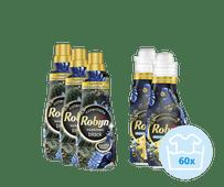 Robijn Klein & Krachtig Black Velvet Pakket - 3x Wasmiddel en 2x Wasverzachter
