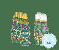 Robijn Perfect Match Paradise Secret Pakket - 3x Wasmiddel en 2x Wasverzachter