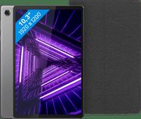 Lenovo Tab M10 Plus (2de generatie) 64 GB Wifi Grijs + Lenovo Book Case Zwart