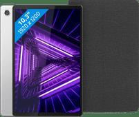 Lenovo Tab M10 Plus (2de generatie) 64GB Wifi Zilver + Lenovo Book Case Zwart