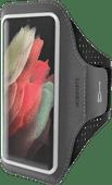 Mobiparts Comfort Fit Sportarmband Samsung Galaxy S21 Ultra Zwart
