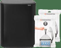 Brabantia Bo Touch Bin 60L Matte Black + Trash Bags (60 units)