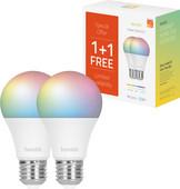 Hombli Smart Bulb E27 dimbaar wit en kleur Duo-pack