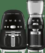 SMEG DCF02BLEU Black + Coffee Grinder