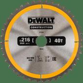DeWalt Saw Blade for Wood 216x30x2.6mm 40T