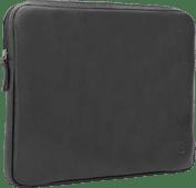 BlueBuilt 15-inch Laptop Cover Width 35cm - 36cm Leather Black