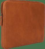 BlueBuilt 14-inch Laptop Cover Width 32 - 33cm Leather Cognac