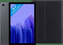 Samsung Galaxy Tab A7 32GB Wifi + 4G Grijs + Just in Case Toetsenbord Hoes QWERTY Zwart Samsung 10 inch tablet