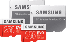 Samsung microSDXC EVO Plus 256GB + SD adapter Duo Pack