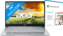 Acer Swift 3 SF314-59-734H + Microsoft 365 Personal NL 1-year Subscription