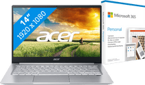 Acer Swift 3 SF314-59-52UX + Microsoft 365 Personal NL 1-year Subscription