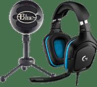 Blue Snowball Gloss Black + Logitech G432 7.1 Surround Sound