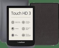 Pocketbook Touch HD 3 Grijs + PocketBook Shell Book Case Zwart