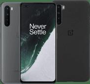 OnePlus Nord 256GB Lichtgrijs 5G + OnePlus Nord Sandstone Back Cover Zwart