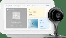 Google Nest Cam Indoor + Nest Hub 2 Chalk