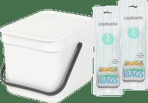 Brabantia Sort & Go 6L White + Trash Bags (20 units)