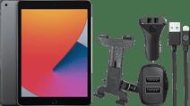 Apple iPad (2020) 32 GB Wifi Space Gray + Hoofdsteun Autohouder + Autolader