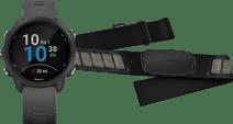 Garmin Forerunner 245 Grijs + Garmin HRM-DUAL Hartslagmeter Borstband Zwart