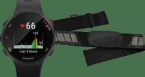 Garmin Forerunner 45S Black + Garmin HRM-DUAL Heart Rate Monitor Chest Strap Black Garmin Forerunner 45