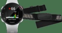Garmin Forerunner 45S White + Garmin HRM-DUAL Heart Rate Monitor Chest Strap Black