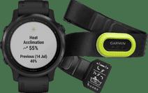 Garmin Fenix 6S Pro - Zwart - 42 mm + Garmin HRM-Pro Hartslagmeter Borstband Groen