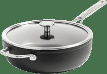 KitchenAid Forged Hardened Aluminium Hapjespan met deksel 28 cm