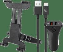 Trust Hoofdsteun Tablet Houder Universeel + Autolader met Lightning Kabel