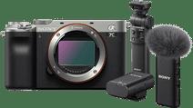 Sony A7C Body Zilver + GP-VPT2BT Grip + ECM-W2BT Microfoon