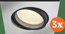 Philips Hue Centura Recessed Spot Light White & Color square aluminum 3-pack