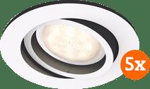 Philips Hue Milliskin Recessed Spot Light White Ambiance White - Round 5-pack