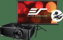 Optoma HD28E + Projection Screen + HDMI Cable