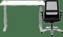 Fellowes levado zit sta bureau 140 x 80 + Prosedia W8RK 17IV
