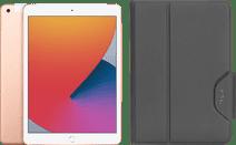 Apple iPad (2020) 10.2 inches 128GB WiFi + 4G Gold + Targus VersaVu Book Case Black