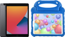 Apple iPad (2020) 10.2 inches 32GB WiFi + 4G Space Gray + Kids Cover Blue