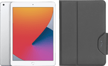 Apple iPad (2020) 10.2 inch 128 GB Wifi Zilver + Targus VersaVu Book Case Zwart