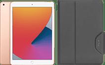 Apple iPad (2020) 10.2 inches 128GB WiFi Gold + Targus VersaVu Book Case Black