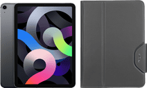 Apple iPad Air (2020) 10.9 inch 64 GB Wifi + 4G Space Gray + Targus VersaVu Book Case