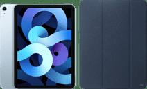 Apple iPad Air (2020) 10.9 inch 64 GB Wifi + 4G Hemelsblauw + Xqisit Piave Book Case Blauw