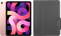 Apple iPad Air (2020) 10.9 inch 64 GB Wifi + 4G Roségoud + Targus VersaVu Book Case