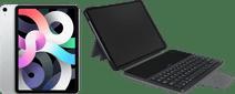 Apple iPad Air (2020) 10.9 inch 64 GB Wifi + 4G Zilver + Gecko Toetsenbord Hoes QWERTY